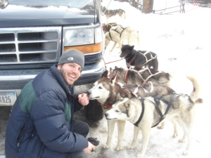 Scott dog sledding in Montana